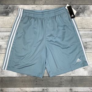 Adidas men's tric shorts blue white xL